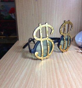"""Детские Очки ,,Доллары$_$"""""""