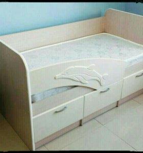 кровать Новая Детская с матрасом