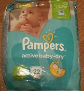 Pampers 22 шт.размер 3