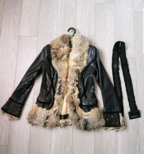 Куртка женская кожаная, осенняя, размер 42