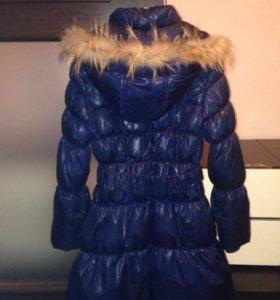 Пальто пуховое, рост 140