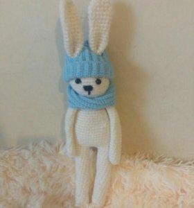 Вязанный заяц зайка
