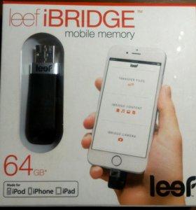 Usb накопитель Leef Флешка ibridge 64GB (Черная)