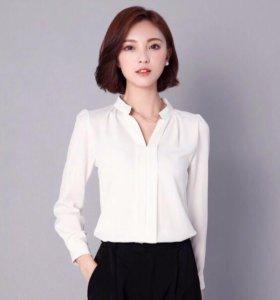 Белая шифоновая блузка.