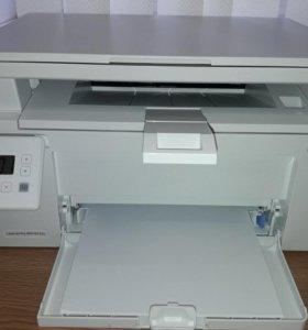 МФУ HP lj m132a белый (принтер 3 в 1)