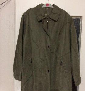 Легкое пальто- куртка, удлинненное