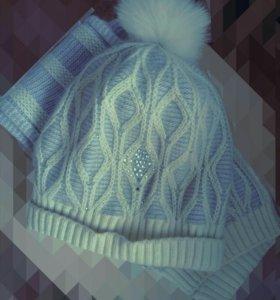 Новый комплект/шапка и шарф