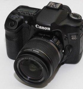 Фотоаппарат Canon EOS 40D + объектив 18-55mm