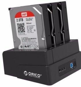 """Док-станция HDD Orico 3 слота 2.5"""" / 3.5"""" USB3.0"""