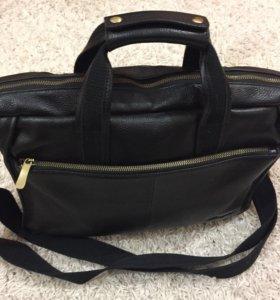 Кожаная сумка формата А4