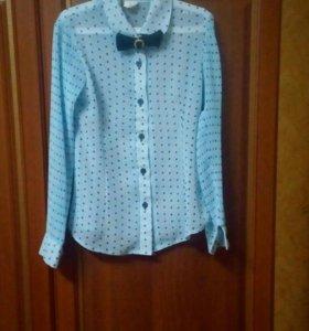 Блузка школьная для девочки 7-8 лет