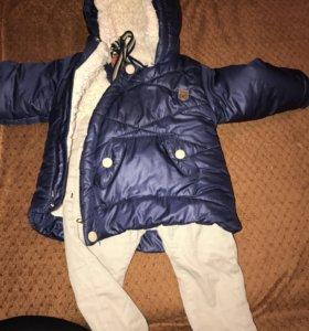 Зимняя двойка куртка с брюками