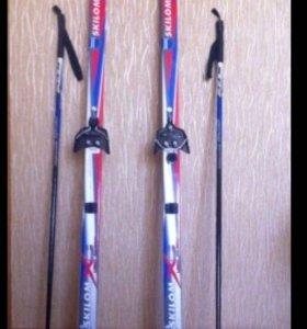 Лыжи,лыжные палки,лыжные ботинки