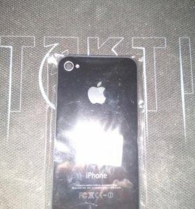 Задняя крышка для iphone 4s чёрная новая