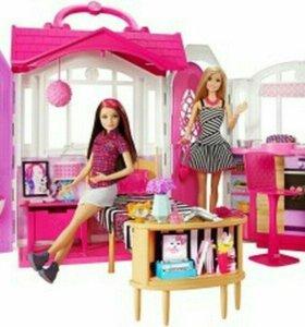 Кукольный домик -чемоданчик барби