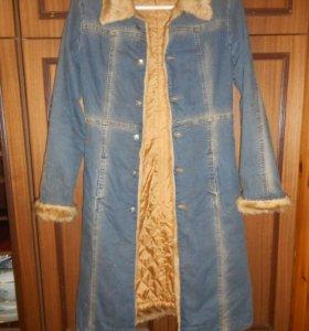 Джинсовое пальто(осень-весна)