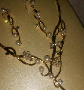 Сережки и ожерелье