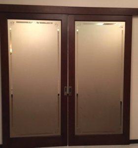 Двери витражные