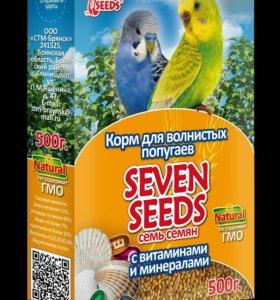 Корм для волнистых попугаев с витаминами и минерал