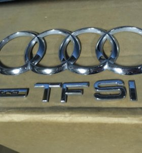 Хромированные эмблема и надписи Audi