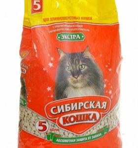 Наполнитель для кошек супервпитывающий Сибирская к