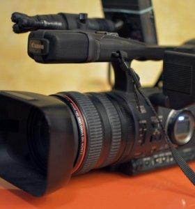 Canon XH A1 + флешь-рекордер DN-60A + карта 64 Гб