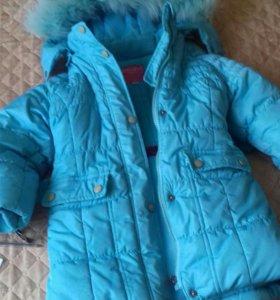 куртка зимняя для девочки р.92
