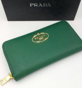 Кошелёк новый Prada - натуральная кожа