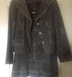 Новый костюм Caterina Leman юбка и пиджак 46-48 L