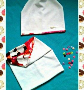 Шапка и шарф-снуд (двухсторонние)