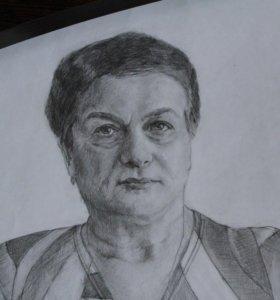 Портрет карандашом с фотографии.