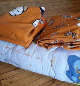 Постельное белье в кроватку + одеялко