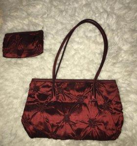 Вечерняя сумочка с косметичкой