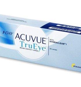 Acuvue true eyes однодневные линзы