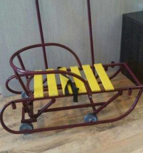 Санки с 4 выдвижными колесами