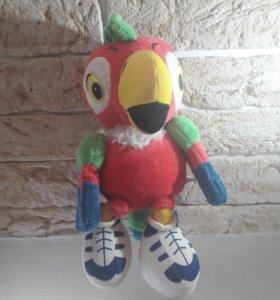 Мягкая игрушка-попугай