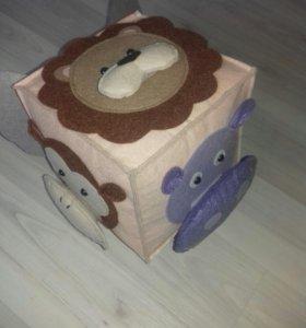 Развивающий куб из фетра