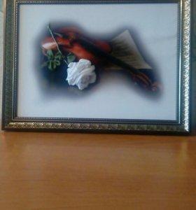 Картины-вышивка лентами