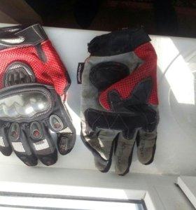 Мотошлем+перчатки