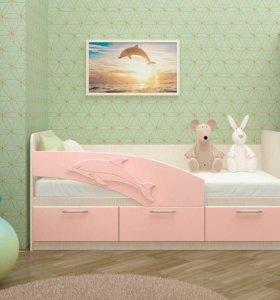 """Детская кровать """"Дельфин фор"""""""
