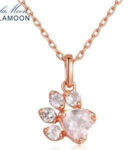Новое Ожерелье Lamoon с натуральным камнем