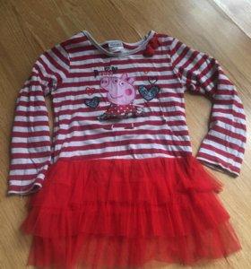 Платье свинка пеппа