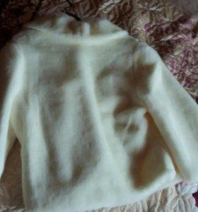 Шубка свадебная 46 размер цвет молочный