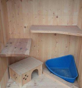 домик для шиншиллы, дегу и другие крупых грызунов