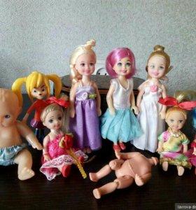 Маленькие куколки плюс карета с пони