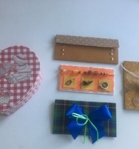 Коробка подарочная, открытки ручной работы