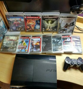PlayStation 3. 500GB. +16 игр и камера