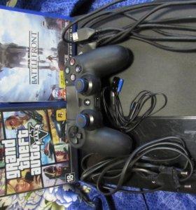 Playstation 4 500 Gb+2 игры. Торг уместен.