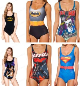 Новые боди на Хэллоуин купальник супергерои
