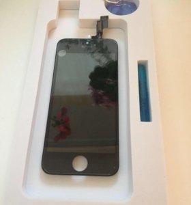 Новый дисплей для iPhone 5S Черный